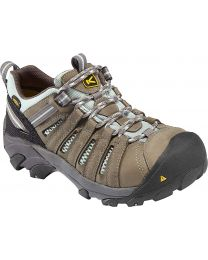 Keen Flint Low Steel Toe Work Shoes - Drizzle/Surf Spray - Womens