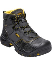 Keen Logandale Waterproof Steel Toe Boot - Black - Mens