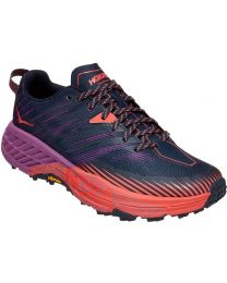 Hoka One One Speedgoat 4 Shoe - Outer Space/Hot Coral - Womens