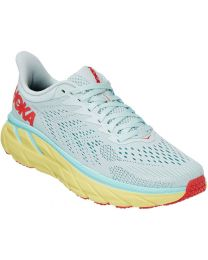 Hoka One One Clifton 7 Shoe Wide - Morning Mist/Hot Coral - Womens