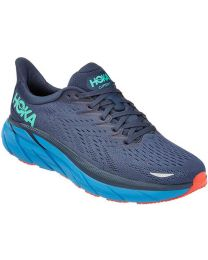 Hoka One One Clifton 8 Shoe Wide - Outer Space/Vallarta Blue - Mens