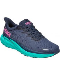 Hoka One One Clifton 8 Shoes Wide - Outer Space/Atlantis - Womens