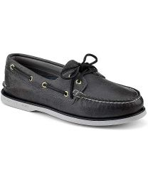 Sperry Gold Cup Authentic Original 2-Eye Boat  Shoe - Grey  - Mens