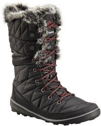 Columbia Heavenly Camo Omni-Heat Boots - Black/Marsala Red - Womens