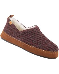 Acorn Camden Recycled Moc Slippers - Garnet - Womens