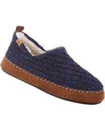 Acorn Camden Recycled Moc Slippers - Navy Blue - Womens