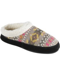 Acorn Fairisles Hoodback Slippers - Black Multi - Womens