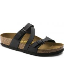 Birkenstock Salina Sandals Narrow - Black Birko-Flor - Womens