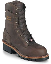 Chippewa 25405 9-in Waterproof Insulated Steel Toe Work Boots - Brown - Mens