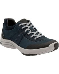 Clarks Wave Andes Shoes - Navy - Womens