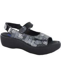 Wolky Jewel Sandals - Gray Picasso Crash - Womens