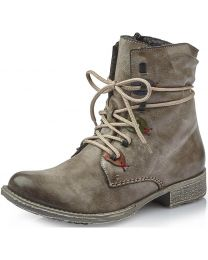 Rieker 70827-26 Boot - Grey Lace - Womens