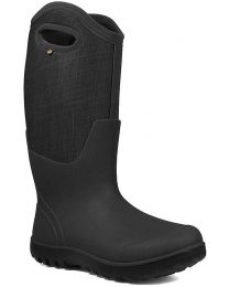 BOGS Neo-Classic Tall Linen Boot - Black Multi - Womens