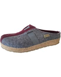 Haflinger GZ Magic Clogs - Grey/Bordeaux - Womens