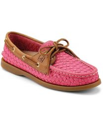Sperry Authentic Original 2-Eye Boat Shoe - Pink/Cognac - Womens