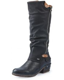 Rieker 93655-00 Bernadette 55 Boot - Black - Womens