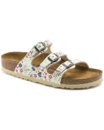 Birkenstock Florida Soft Footbed Sandals - Meadow Flowers Beige - Womens