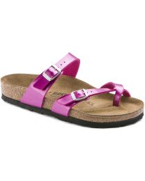 Birkenstock Mayari Birko-Flor Sandals - Electric Metallic Magenta - Womens