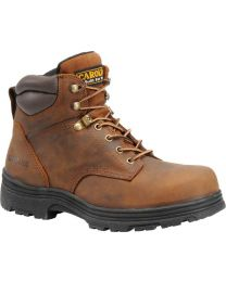 Carolina CA3526 6-inch Waterproof Steel-Toe Work Boots - Brown - Mens