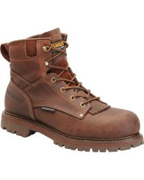 Carolina CA7028 6-inch Waterproof Boots - Cigar Brown - Mens