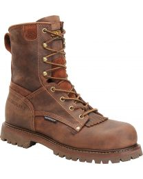 Carolina CA8028 8-inch Waterproof Boots - Cigar Brown - Mens