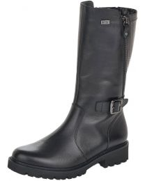 Remonte D8673-01 Mid-Calf Zip Up Boot - Black - Womens
