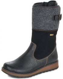 Remonte D8888-01 Boot - Black - Womens
