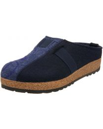 Haflinger GZ Magic Clogs - Navy/Denim - Womens