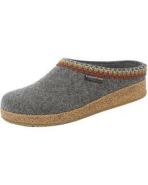Haflinger Zig Zag Clogs - Grey - Womens