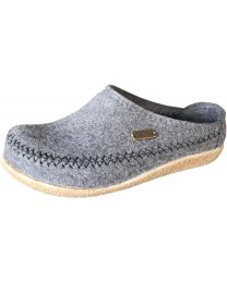 Haflinger Fletcher Slipper - Grey - Womens