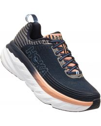 Hoka One One Bondi 6 Shoe Wide - Indigo/Pink- Womens