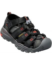 Keen Newport H2 Sandals - Black/Fiery Red - Children