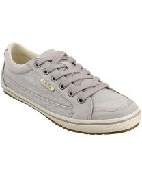 Taos Moc Star Shoes Wide - Light Grey Distressed - Womens