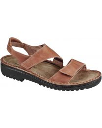 Naot Enid Sandal - Latte Brown Leather - Womens