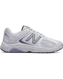 New Balance 847 Walking Shoes - White/Grey - Womens