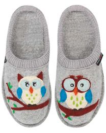 Haflinger Olivia Slippers - Grey - Womens