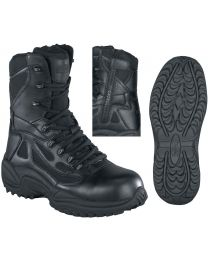 Reebok Black Stealth SWAT 8-in Safety-Toe Boot - Mens