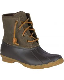 Sperry Saltwater Duck Boot - Brown/Olive - Women