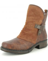 Rieker Z9973-25 Boot - Brown/Red - Womens
